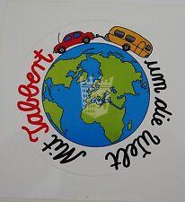 Aufkleber Mit TABBERT um die Welt Wappen Wohnwagen Caravan 80er Sticker