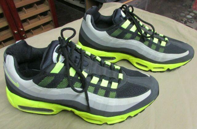 Nike Air Max 95 No Sew Men's size 9.5 scarpa Volt Charcoal Neon RARE AM95 Black