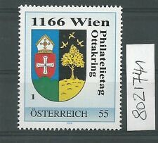 Österreich PM personalisierte Marke Philatelietag 1166 WIEN 8021741 **