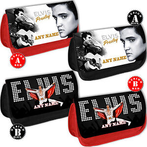 ELVIS-PRESLEY-PERSONALISED-Pencil-Case-Make-Up-Bag-Add-Any-Name-text-Makeup-Gift