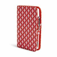 Vera Bradley Fabric Journal In Petite Paradise Red on sale
