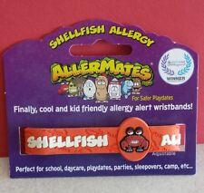 SHELLFISH ALLERGY Child Adjustable Bracelet Wristband Medical Alert