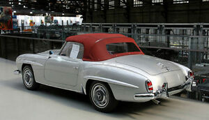 Image Is Loading Mercedes W121 190sl Red Burgundy Oem German Convertible