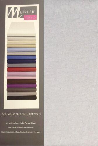 Varianten Jersey Spannbetttuch Spannbettlaken 100/% Baumwolle Öko in versch