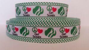 """Grosgrain Ribbon 4-H Girl Four Leaf Clover Green Polka Dot Border Health 7//8/"""""""