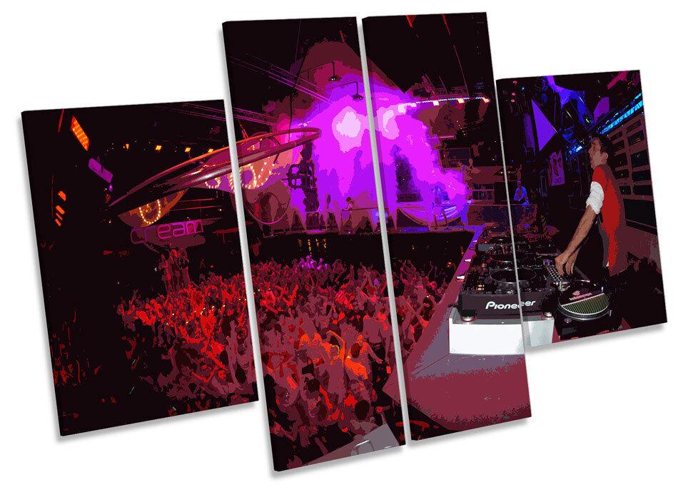 DJ Eddie HALLIWELL IBIZA AMNESIA A MURO ARTE Multi Multi Multi pannello foto stampa 9b7c9a