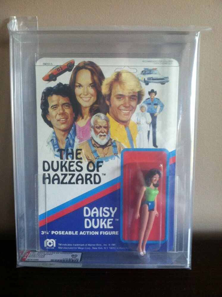 1981 MEGO MEGO MEGO DUKES OF HAZZARD DAISY DUKE 3-3 4 INCH AFA 80 Short Hair Unpunched e14b1b