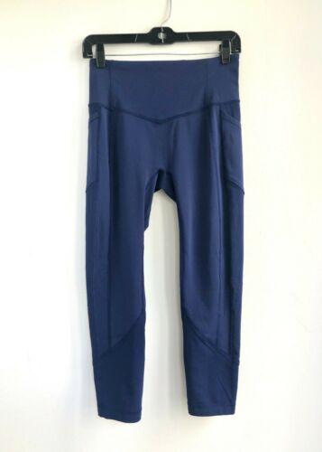 Lululemon Fast Free Leggings Navy Blue Size 8 23.5