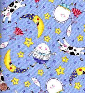 Nursery-Rhymes-blue-childrens-Timeless-Treasures-fabric