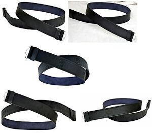 Leather Kilt Belt Adjustable size for Kilts Highland Black Embossed or Plain