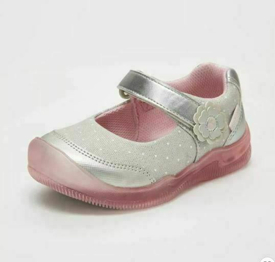 Surprize by Stride Rite Mary Jane Light-Up Toddler Girls Shoes Sandy Sz 6 ~ New