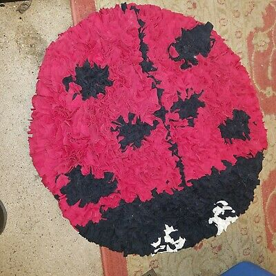 New Tufted Lady Bug Rag Rug Ebay