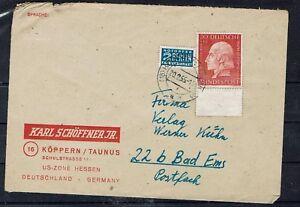 Bund Brd Minr 202 Comme Ef Ab Köppern (taunus) - Bad Ems 20.2.1955-afficher Le Titre D'origine