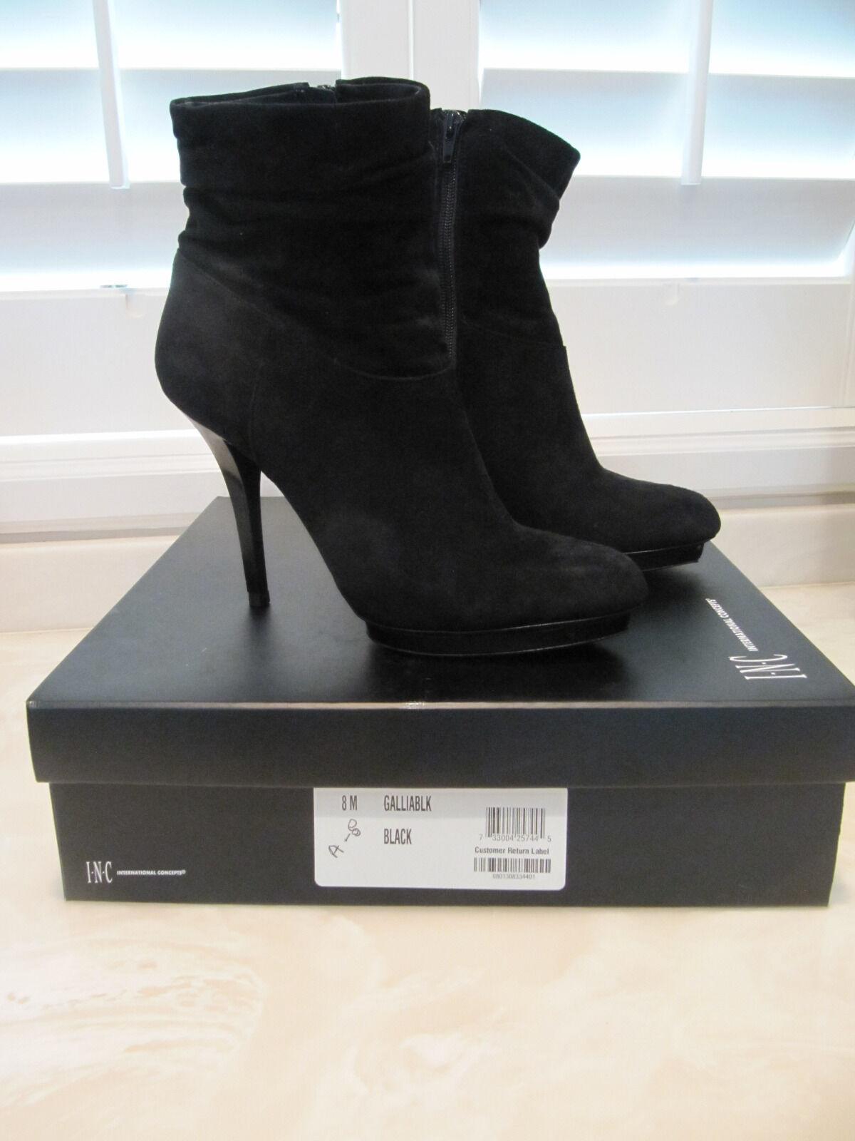 INC Gallia Black Womens shoes Size 8 M Boots MSRP  119