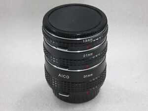 AICO-Extension-Tubes-Set-of-3-To-Fit-Olympus-OM-System-13-21-amp-31-mm