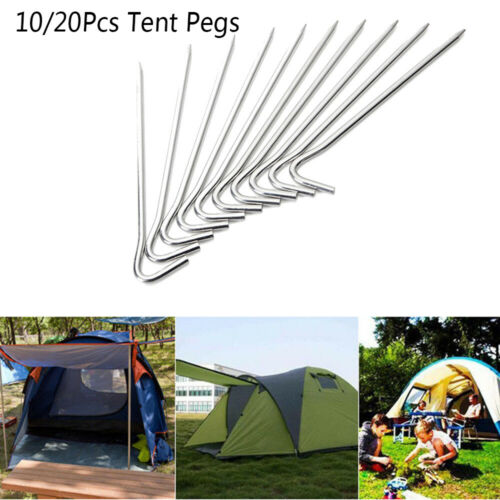 Fixed Ground Pin Camping Accessories Aluminum Alloy Tent Peg Stakes Hook