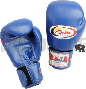 Details about Raja Boxing Gloves 14 oz Blue - Ships from New York