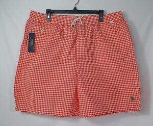 1c06907b1f POLO RALPH LAUREN GINGHAM TRAVELER MENS BIG & TALL SWIM SUIT SHORTS ...
