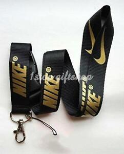 Image is loading Nike-Lanyard-Gold-Strap-Badge-ID-Running-Cell-