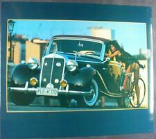 Altes Blechschild Oldtimer PKW Mercedes Benz Cabrio Werbung gebraucht used