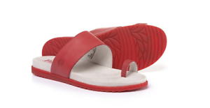 NEW BORN LOJA RED TOE LOOP SANDALS SLIDE SANDALS WOMENS 7 F19005