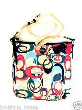 NWT Coach F24446 Signature Ikat Print Crossbody/Shoulder Duffle Handbag Authent