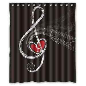 Image Is Loading New Custom Waterproof Decorative Music Musical Note Shower