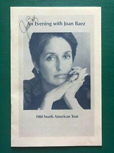 JOAN-BAEZ-Autographed-1984-North-American-Tour-Signed-Concert-Booklet-Program