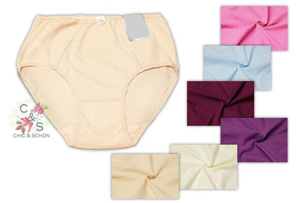 Basic Damen Slip Baumwollmischung unser Bestseller in verschiedenen Farben