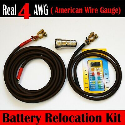 Top Post 16 FT RED// 4 FT BLACK # 2 Awg HD welding Cable Battery Relocation Kit
