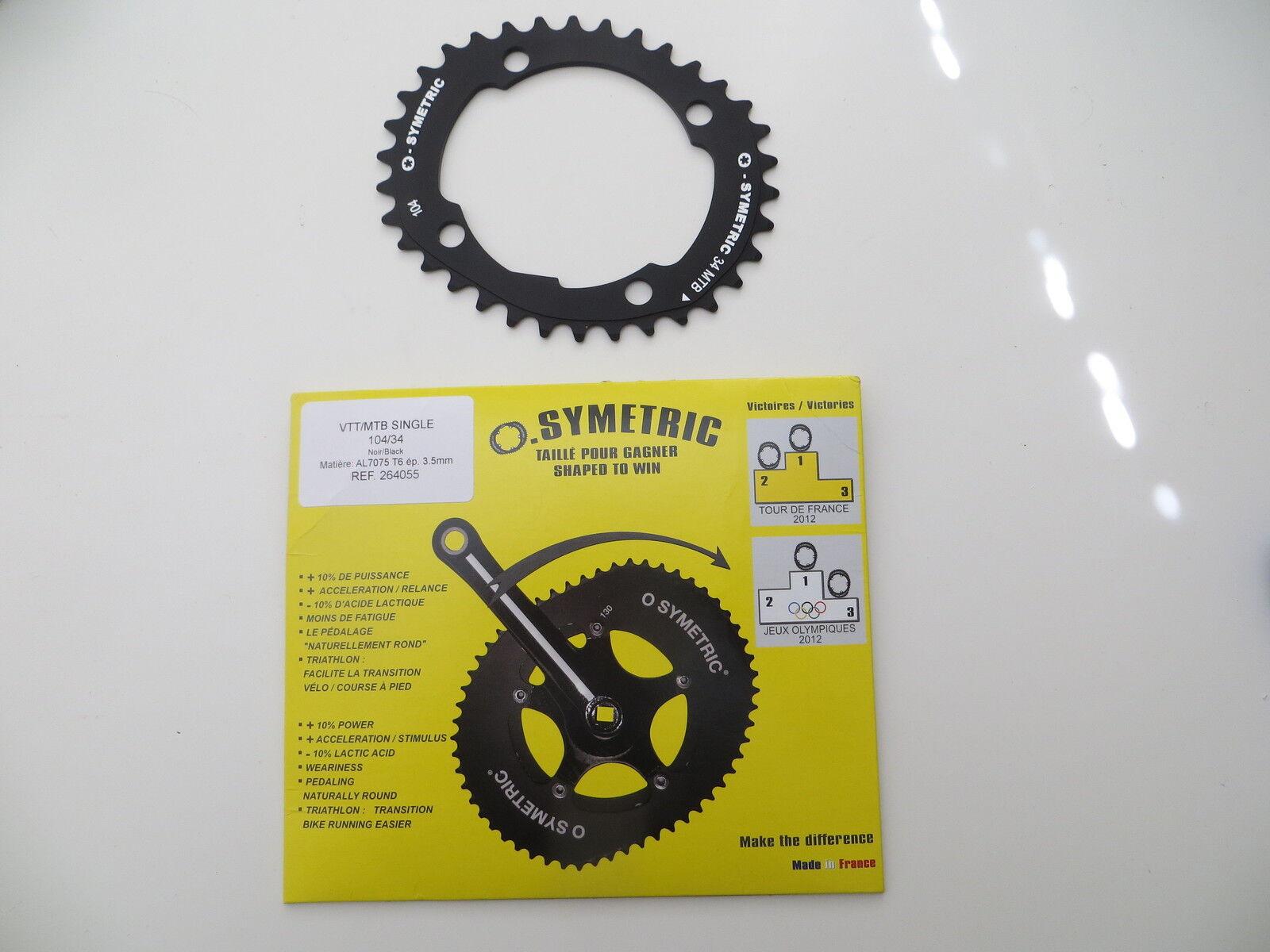 OSYMETRIC elíptico 34 4 Diente De Bicicleta De Montaña Plato 4 34 BCD Perno de 104 mm (366) 0c5507