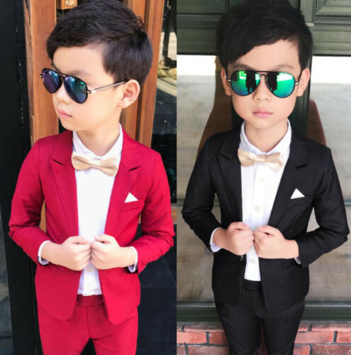 Toddler Boys Suits Formal Wedding Party Suit Fashion Blazer+Pants Kids Prom Suit