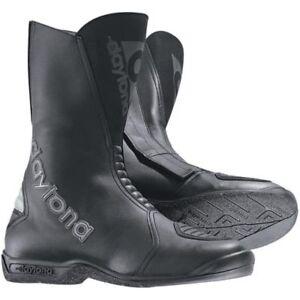 NEU-DAYTONA-Stiefel-Flash-schwarz-Gr-44-Lederstiefel-Motorradstiefel