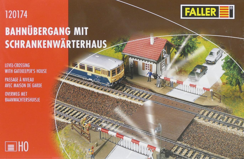 Faller 120174 120174 120174 H0 - Bahnübergang mit Wärterhaus NEU & OvP c55953
