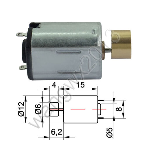 DC1.5V-6V 8800rpm Massager Vibrator Motor Vibration Vibrating Carbon Brush Motor