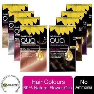 3 Pack Garnier Olia No Ammonia Permanent Hair Dye Bundle