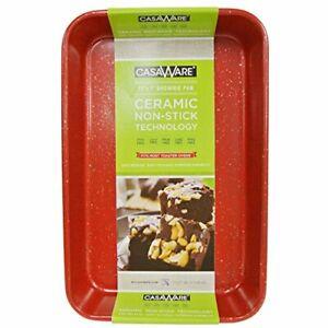 Casaware Toaster Oven Baking Pan 7 X 11 Inch Ceramic