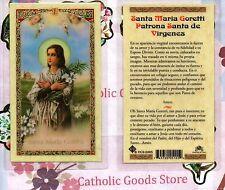 Santa Maria Goretti Patrona Santa de Virgenes - Spanish - Laminated Holy Card