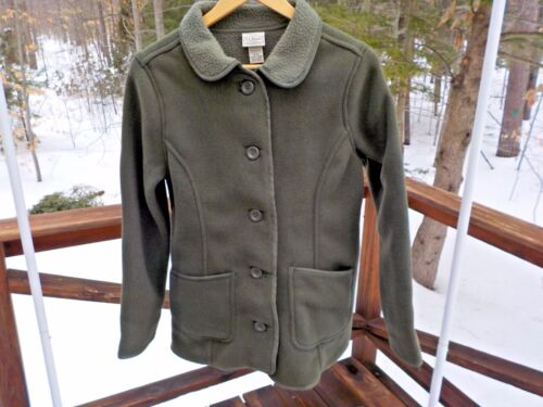 Button l Loden Grøn Frakke Kingfield Jacket 99 Fleece Nwt S Bean Soft L Dame 54xqB0Ynvw