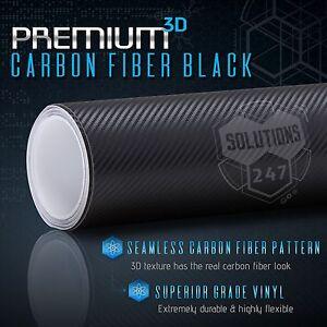 90EB 3D Dustproof Durable 3D Decal Sticker Black Carbon Fiber Film