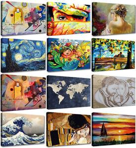 Quadri-moderni-Stampa-su-tela-cm-120x70-Quadro-Moderno-Canvas-XXL-Astratti-Arte