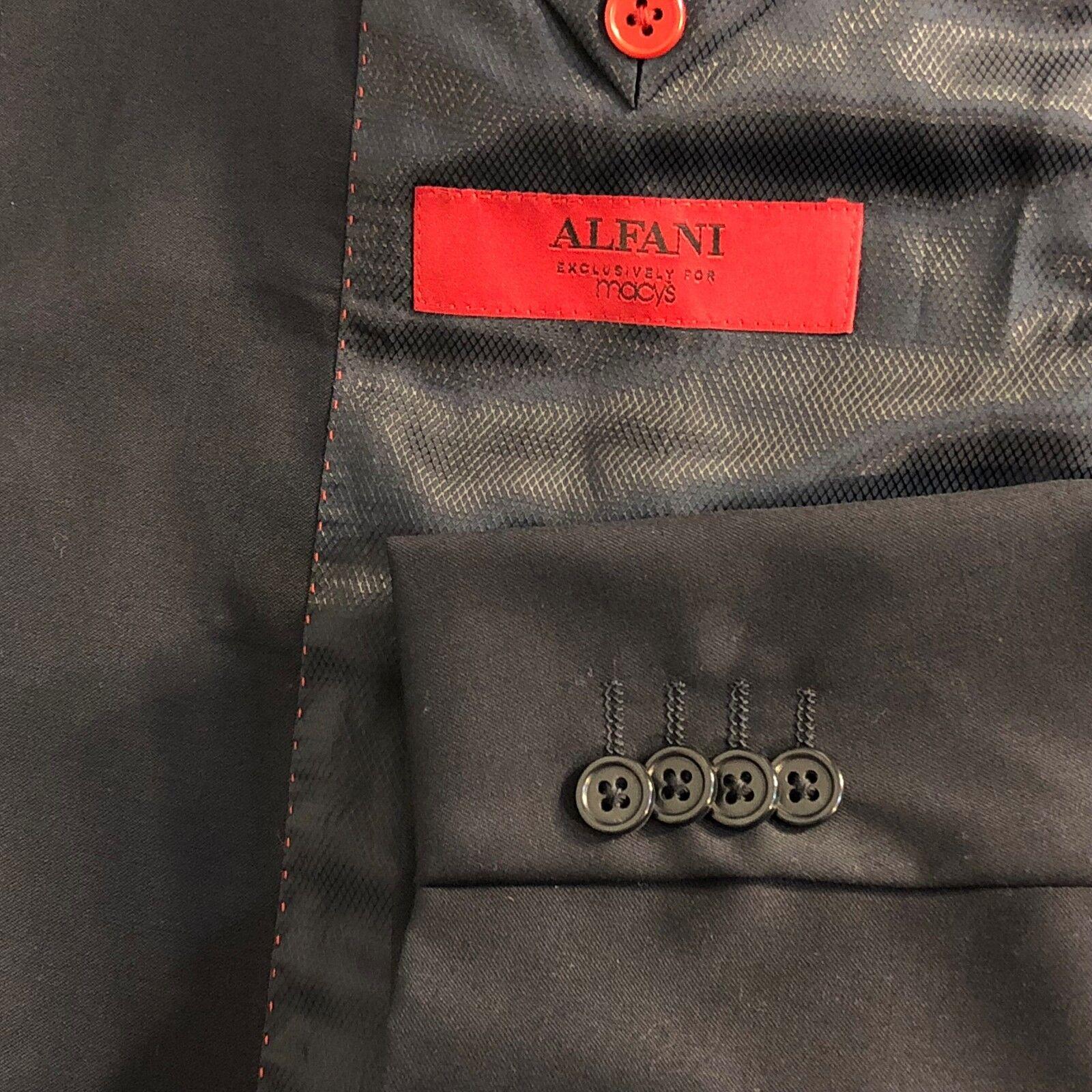 Alfani Red Label 2 piece navy bluee suit men size 40L 32x29  2B 2V