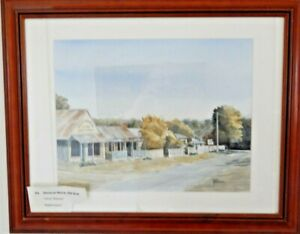 GENERAL-STORE-HILL-END-NSW-Watercolour-Painting-by-Chris-Pearson-Glass-Framed