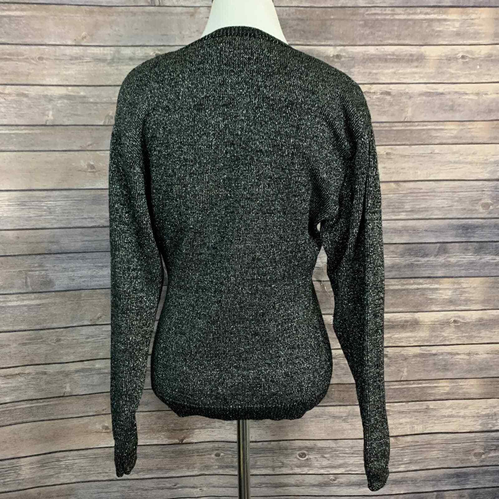 Vintage Kansai Yamamoto Black Metallic Sweater (S… - image 4