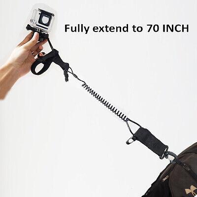 SaniMomo Spiral Coil Lanyard Safety Scuba Diving Torch Camera Strap With Spring Clip