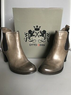 Otto Kern Stiefelette, Chelsea Boots Gr. 38 taupe | eBay