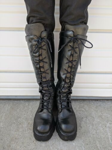 Men's New Rock Boots. Rare Metal Heel Early 2000s