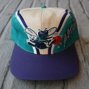 Vintage New Charlotte Hornets Snapback Hat 90s Cap