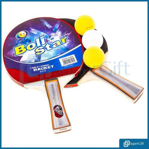 3 Boules Tennis De Table Raquette Ping Pong Paddle Batte Balle Neuf