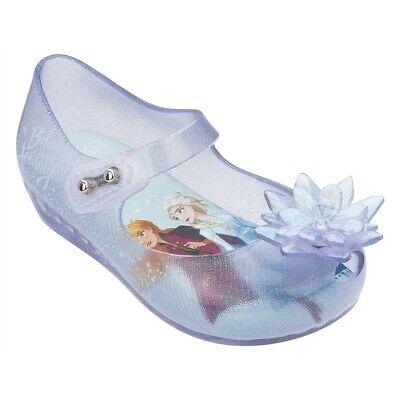 NWT MINI MELISSA Ultragirl Frozen BB Girl Bow Sandal Pearl Glitter Blue 32851